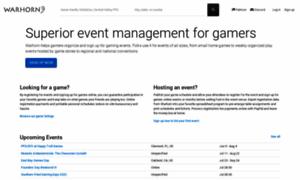 warhorn.net - Superior event management for gamers  Warhorn