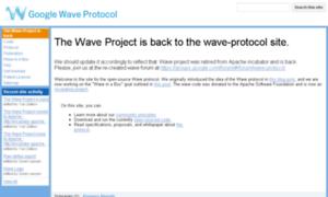 Waveprotocol.org thumbnail