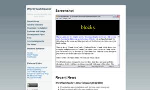 Wordflashreader.sourceforge.net thumbnail
