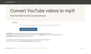 youtube2mp3.net - Youtube2mp3 :: convert YouTube videos to mp3